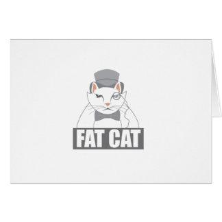 Gato gordo tarjeta de felicitación