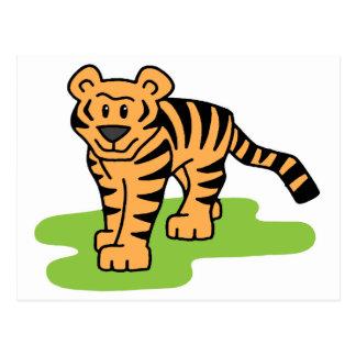 Gato grande del tigre de Bengala del clip art del Postal
