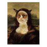Gato gruñón tarjeta postal