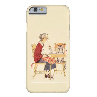 Gato impresionante y mujer del vintage que se funda para iPhone 6 barely there