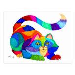 Gato juguetón postales