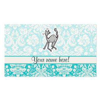Gato lindo del dibujo animado tarjetas de visita