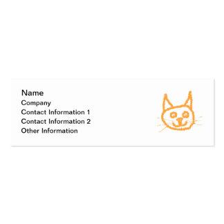 Gato lindo del jengibre tarjetas de visita mini