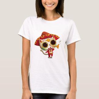 Gato lindo del mariachi mexicano del EL Camiseta
