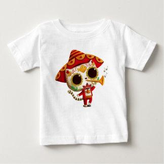 Gato lindo del mariachi mexicano del EL Camiseta Para Bebé