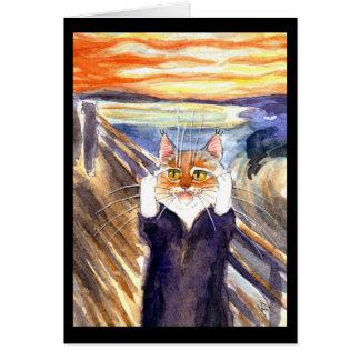 Gato lindo la tarjeta de felicitación de la