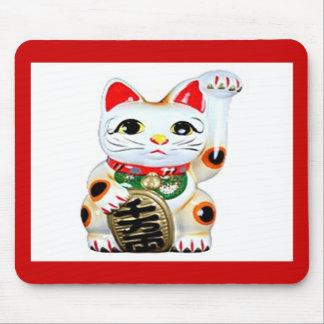 Gato Mousepad de la buena suerte Alfombrilla De Ratón
