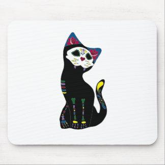 """""""Gato Muerto"""" Dia De Los Muertos Cat Alfombrilla De Ratón"""