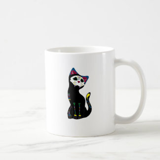 Gato Muerto Dia De Los Muertos Cat Tazas De Café