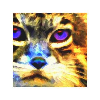Gato muy fresco impresión en lona estirada