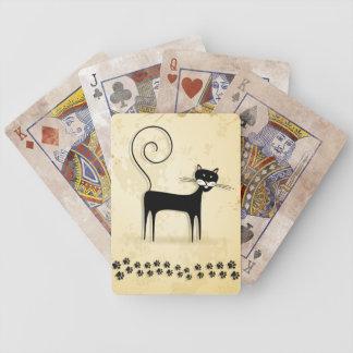 Gato negro baraja de cartas