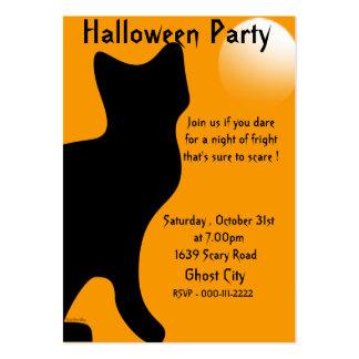 Gato negro de Halloween - modificado para requisit Plantilla De Tarjeta De Visita