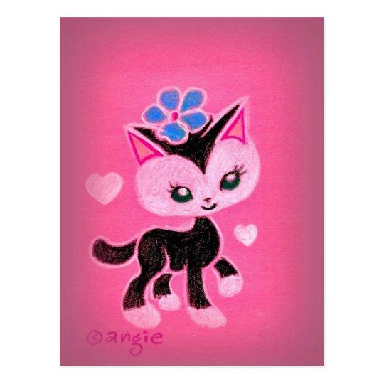 Gato negro del amor de las tarjetas del día de San