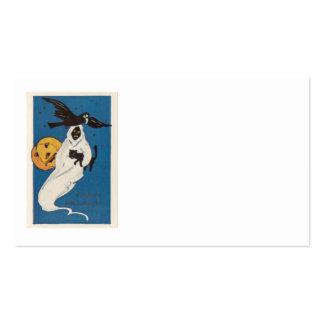 Gato negro del cuervo del fantasma de la linterna  tarjetas de negocios