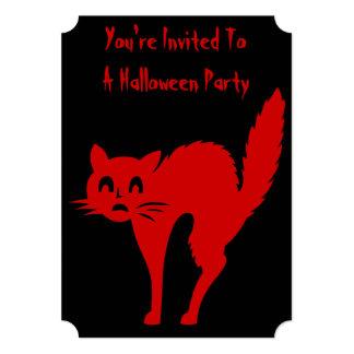 gato negro divertido de Halloween con arqueado Anuncios Personalizados