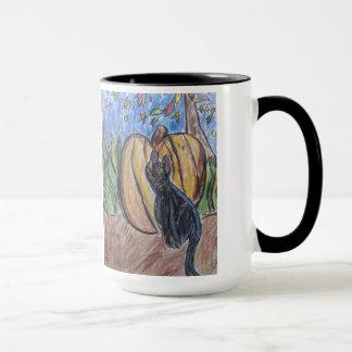 gato negro dos taza