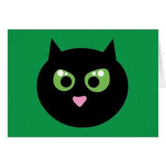 Gato negro enojado tarjeta de felicitación