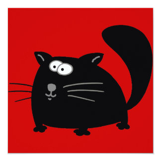 Gato negro gordo anuncio personalizado