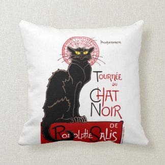 Gato negro Le Chat Noir del vintage Cojín Decorativo