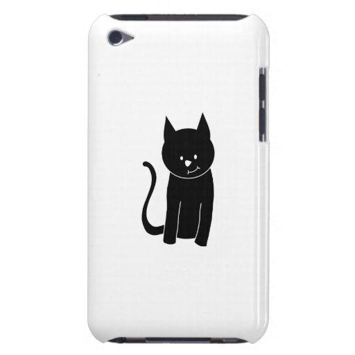 Gato negro lindo iPod Case-Mate fundas