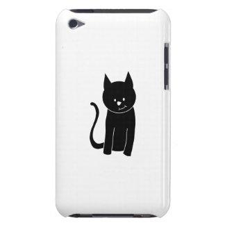 Gato negro lindo funda para iPod de barely there