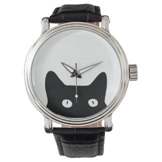 Gato negro reloj