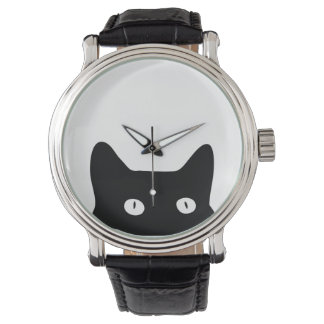 Gato negro relojes de mano