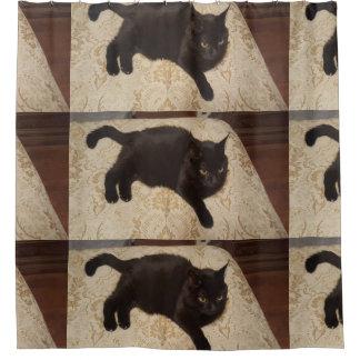 Gato negro Roxie Cortina De Baño