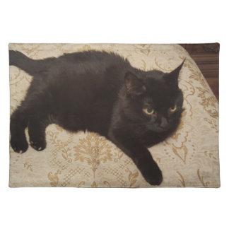 Gato negro Roxie Salvamanteles