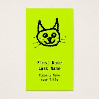 Gato negro tarjeta de negocios