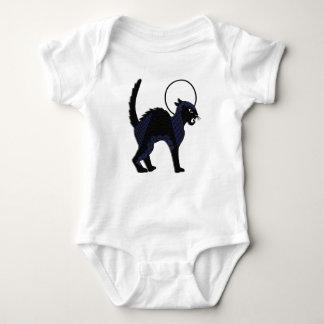 Gato negro y luna adornados - mono de Halloween Camisetas