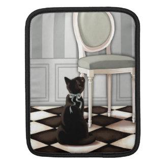 Gato negro y silla elegantes de Louis Funda Para iPads