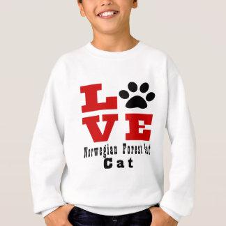 Gato noruego Designes del gato del bosque del amor Sudadera