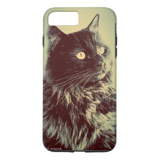 Gato noruego negro del bosque funda iPhone 7 plus