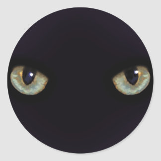 Gato-ojos Pegatina Redonda