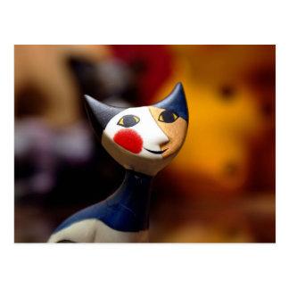 Gato oriental del juguete postal