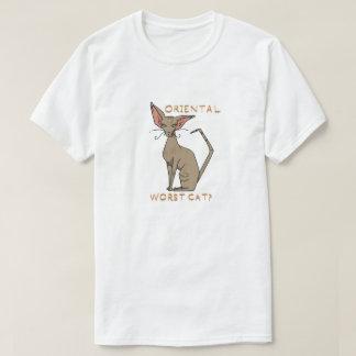 ¿Gato peor oriental? Camiseta