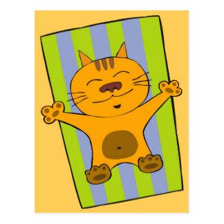 Gato perezoso postal