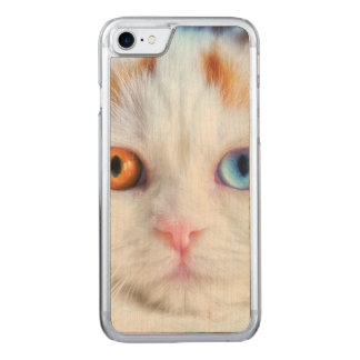 Gato persa blanco Impar-Observado Funda Para iPhone 8/7 De Carved