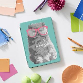 Gato persa con la caja divertida linda del cubierta de iPad air