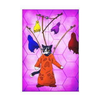 Gato principal de la marioneta lienzo