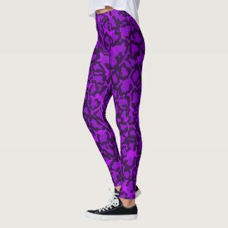 Gato púrpura leggings