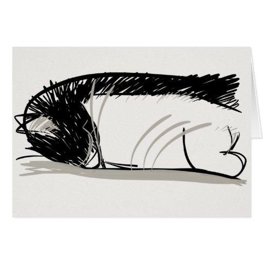 ¡Gato que duerme no borked! Felicitación