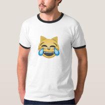 Gato que ríe la camiseta difícilmente gritadora de