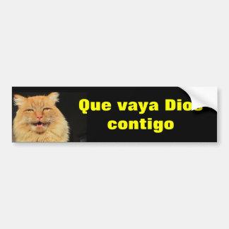 Gato - Que Vaya Dios Contigo (puede dios ir con Pegatina Para Coche
