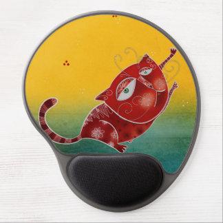Gato rojo alfombrilla de ratón de gel