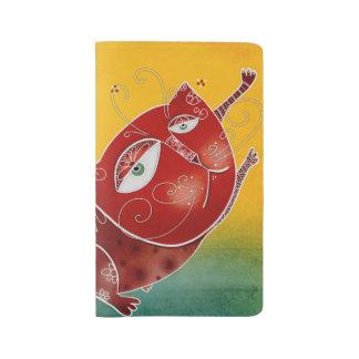 Gato rojo cuaderno grande moleskine
