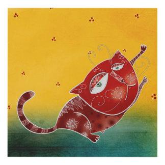Gato rojo cuadro