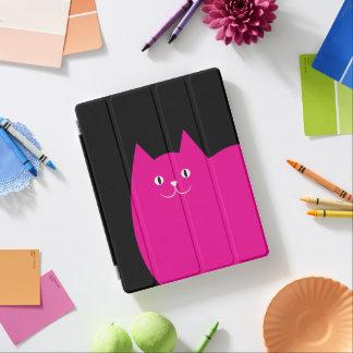 Gato rosado lindo cubierta de iPad