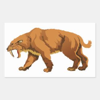 gato Sable-dentado Pegatina Rectangular